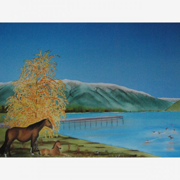 Autumn at Nelson Lakes original watercolour by Carolyn Judge Square